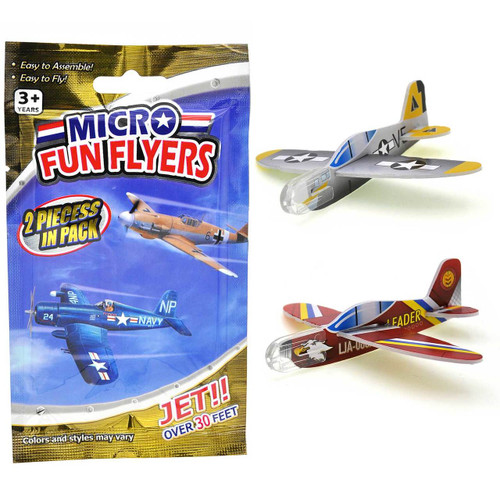 Micro Glider Plane Flyers 2pcs/pack