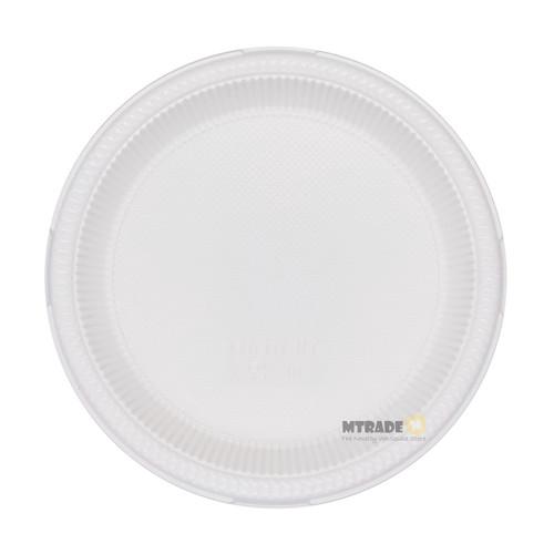 "Disposable 7"" White Plastic Plates 50pcs/pack"
