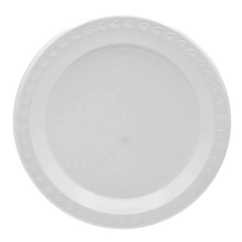 "Disposable 9"" White Plastic Plates 50pcs/pack"