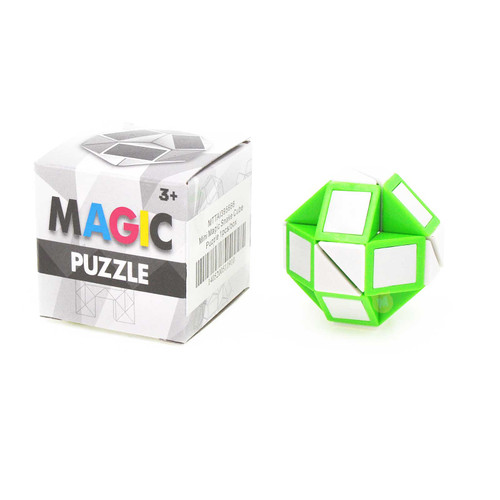 Mini Magic Snake Cube Puzzle Assorted Color 1pcs/box