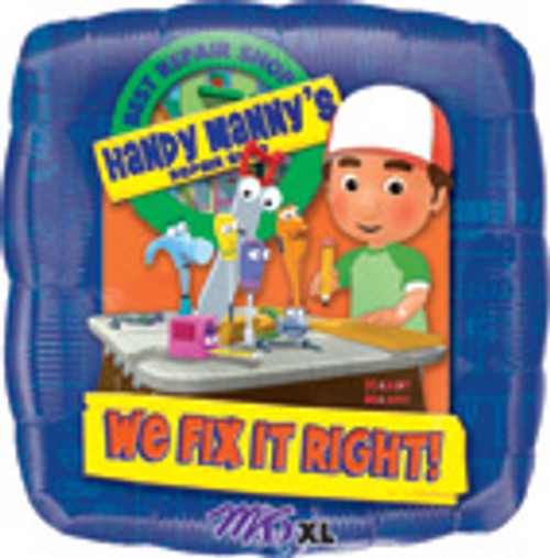"18"" Handy Manny Square Balloon"