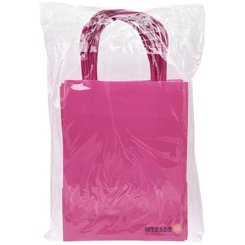 Rose Pink Small Kraft Paper Gift Bag 12pcs/pack