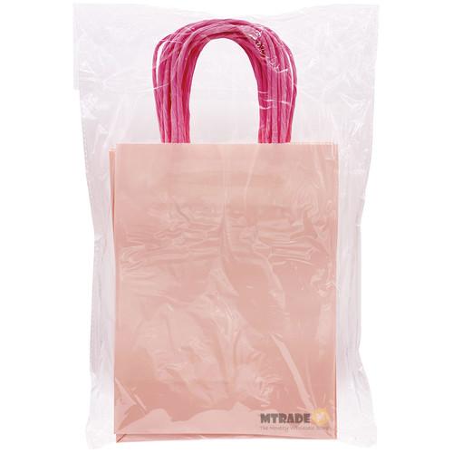 Pink Small Kraft Paper Gift Bag 12pcs/pack