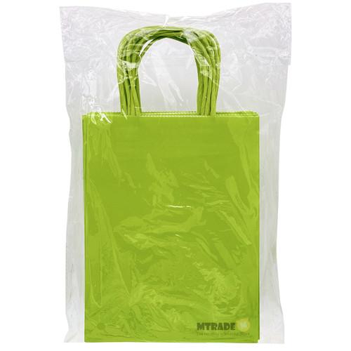 Lime Green Small Kraft Paper Gift Bag 12pcs/pack