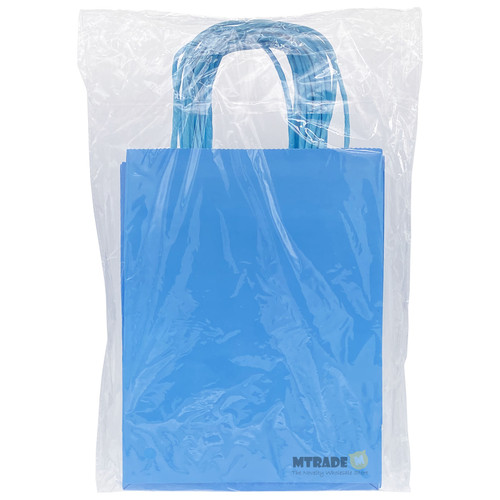 Sky Blue Small Kraft Paper Gift Bag 12pcs/pack