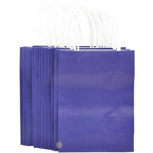 Cobalt Blue Small Kraft Paper Gift Bag 12pcs/pack