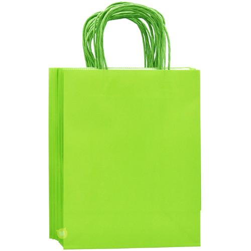 Lime Green Medium Kraft Paper Gift Bag 12pcs/pack