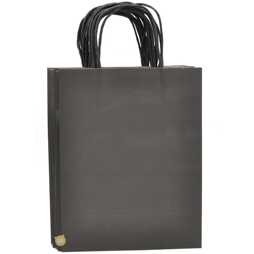 Black Medium Kraft Paper Gift Bag 12pcs/pack