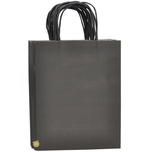 Black Medium Kraft Paper Gift Bag 12pcs/pack
