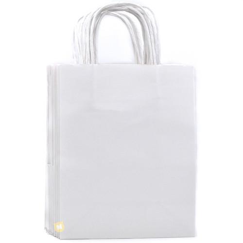 White Medium Kraft Paper Gift Bag 12pcs/pack