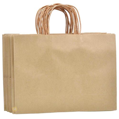 Brown Large Kraft Paper Gift Bag 12pcs/pack