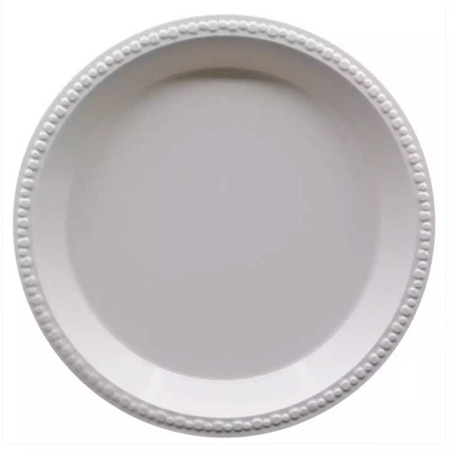"Disposable 10"" White Plastic Plates"