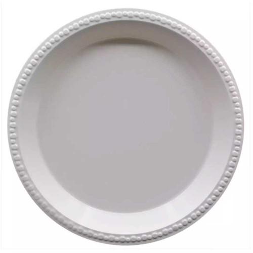 "Disposable 10"" White Plastic Plates"