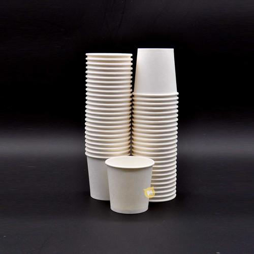 Disposable 4 Oz White Paper Cups 50pcs/pack