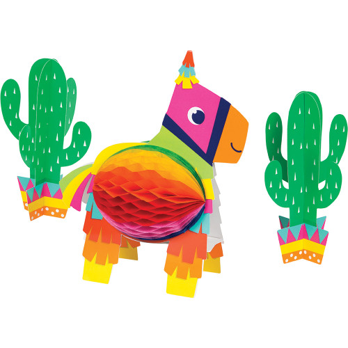 Fiesta Fun Honeycomb Centerpiece 3D Set
