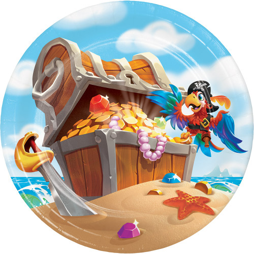 "Pirate Treasure 7"" Lunch Plates"