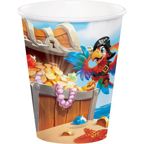Pirate Treasure 9 oz Paper Cups