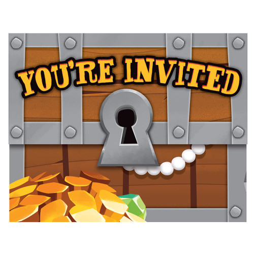 Pirate Treasure Gatefold Invitation
