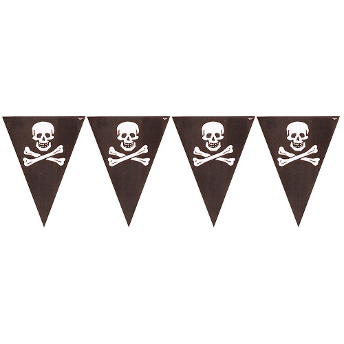 Pirate Treasure Flag Banner