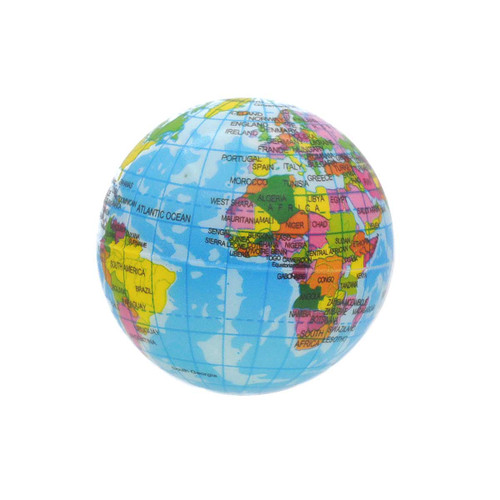 Earth Globe Stress Ball 1pcs