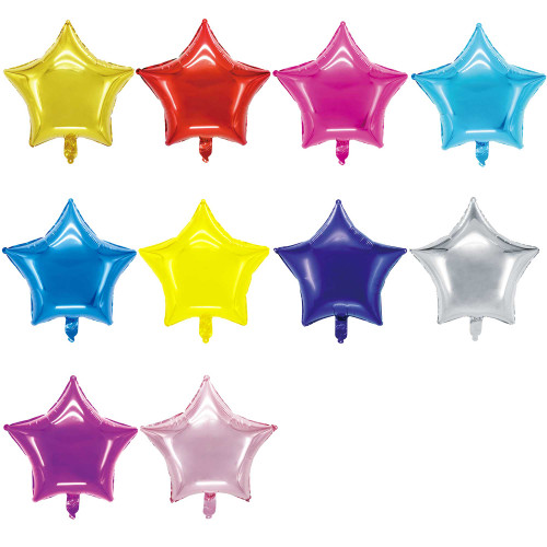 "18"" Metallic Star Shape Foil Balloon (Uninflated)"