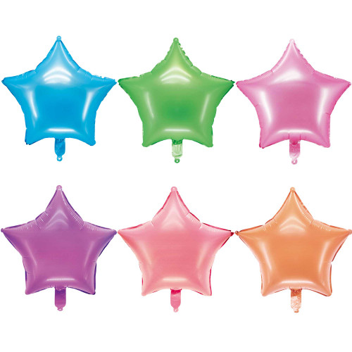"18"" Fluorescent Star Shape Foil Balloon (Uninflated)"