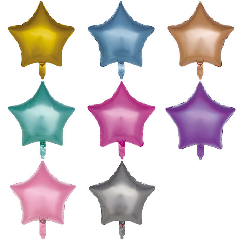 "18"" Matt Star Shape Foil Balloon (Uninflated)"