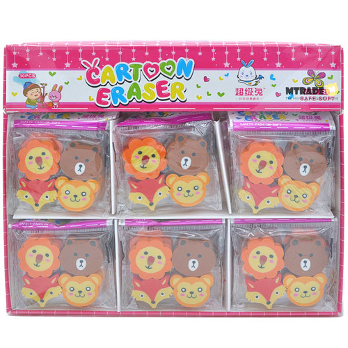 Woodland Animal Erasers 30 packs/box