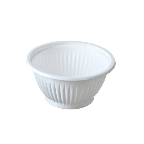 Disposable 7 Oz PP White Plastic Bowl 50pcs/pack