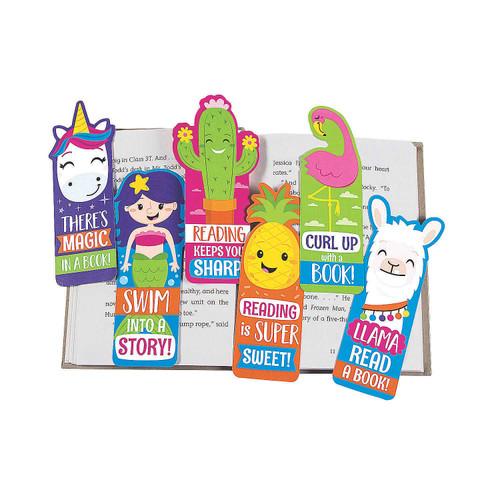 Fun Shaped Laminated Bookmarks 48pcs/pack