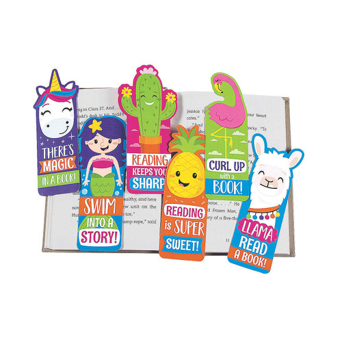 Fun Shaped Laminated Bookmarks 48pcs/pack