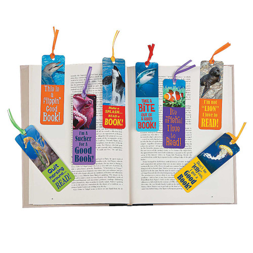 Laminated Realistic Ocean Bookmarks 48pcs/pack