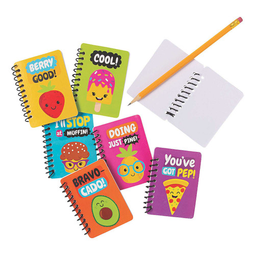 Funtastic Food Friends Mini Notebooks 24pcs/pack