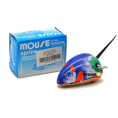 Retro Metal Wind up Mouse