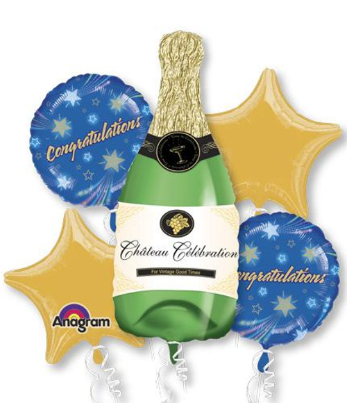 Champagne Bottle Balloon Bouquet