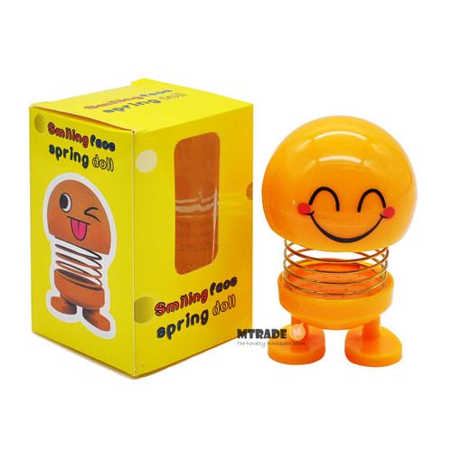Emoji Shaking Head Spring Toy 1pcs/box
