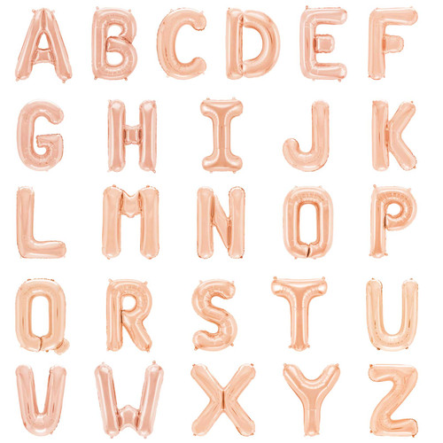 "16"" Rose Gold Letter Air-Fill Balloon (Uninflated)"