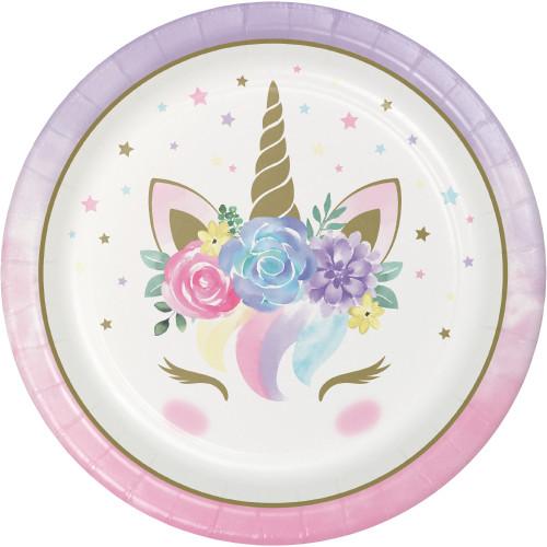 "Unicorn Baby 9"" Dinner Plates"