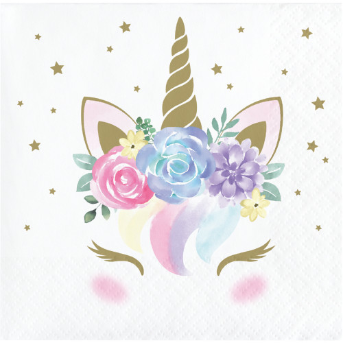 Unicorn Baby Beverage Napkins