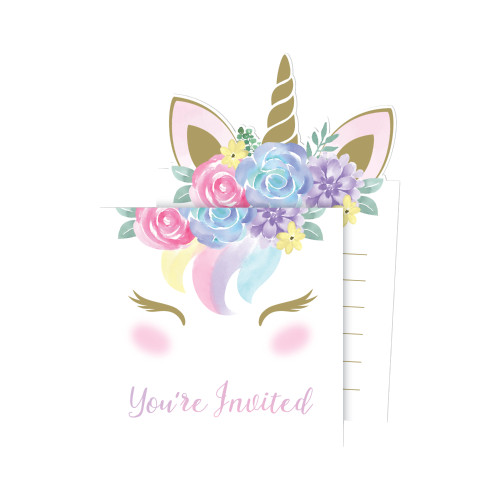 Unicorn Baby Pop-up Invitations