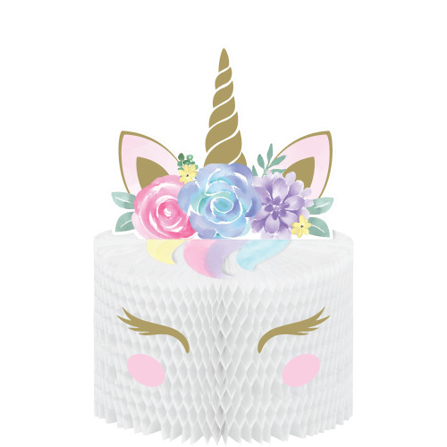 Unicorn Baby Honeycomb Centerpiece