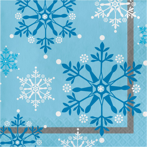 Snowflake Swirls Lunch Napkins