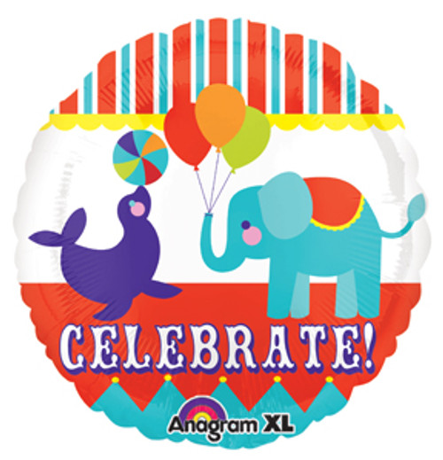 "21"" Big Top Animals Celebrate Balloon"