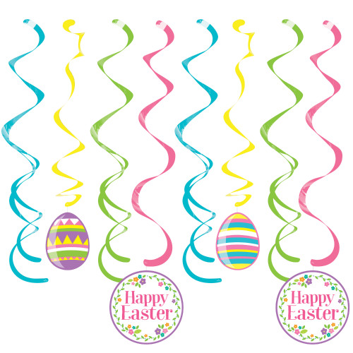Happy Easter and Eggs Deluxe Dizzy Danglers