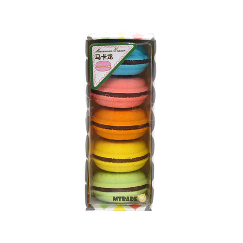 Mini Macaron Erasers 5pcs/box