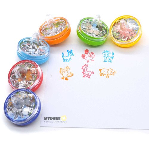 Farm Animal Peg-Top Stamper 24pcs/box