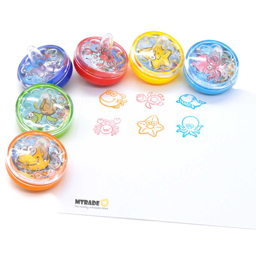 Sea Animal Peg-Top Stamper 24pcs/box