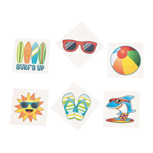 Beach Fun Tattoos 36pcs/pack