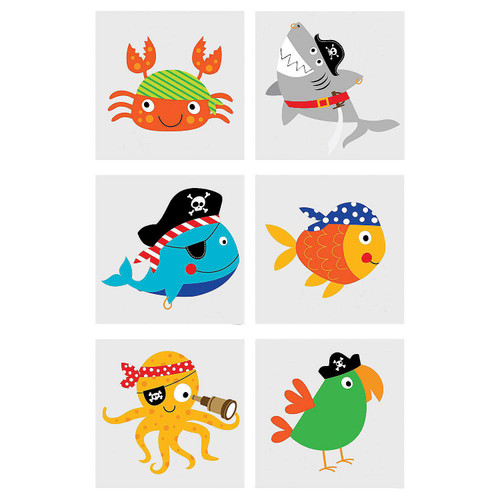 Pirate Animals Tattoos 72pcs/pack