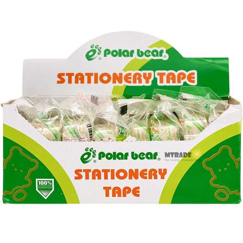 Bundle Crystal Clear Tape 18mm x 22.85m 8pcs/box